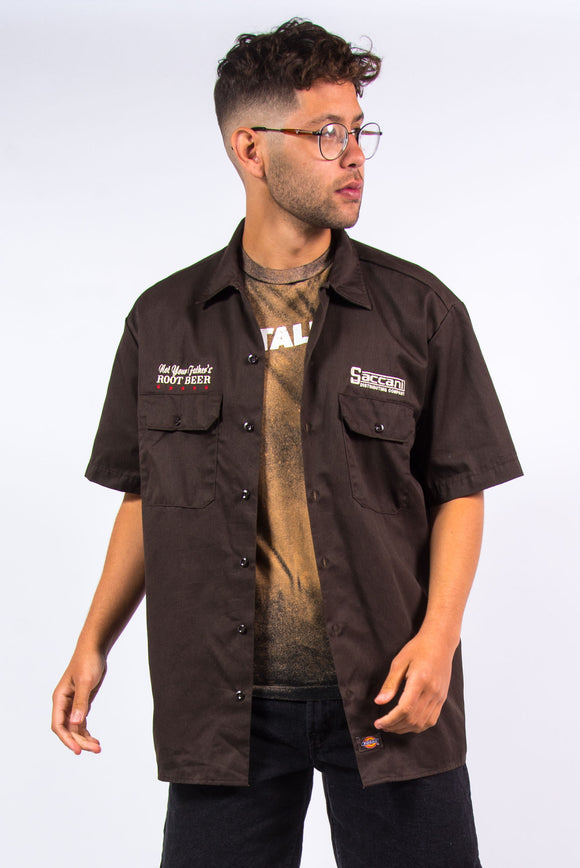 Vintage Dickies Brown Work Shirt