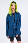 Vintage 90's Blue Denim Shirt