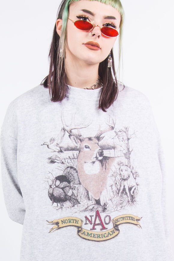 90's Vintage Deer Graphic Sweatshirt