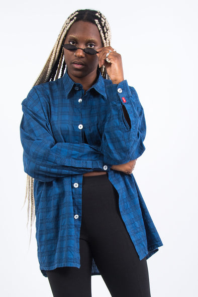 Vintage 90's Blue Check Shirt