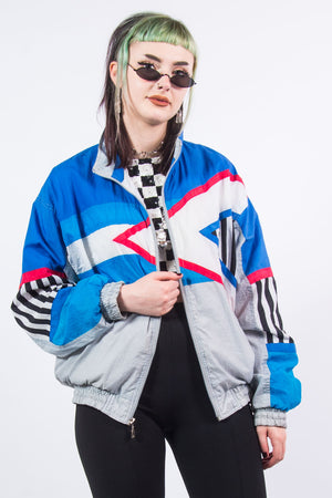 Vintage 90's Patterned Shell Tracksuit Jacket