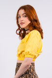 Vintage 90's Yellow Prairie Crop Top