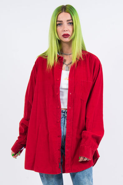 Vintage 90's Red Cord Shirt