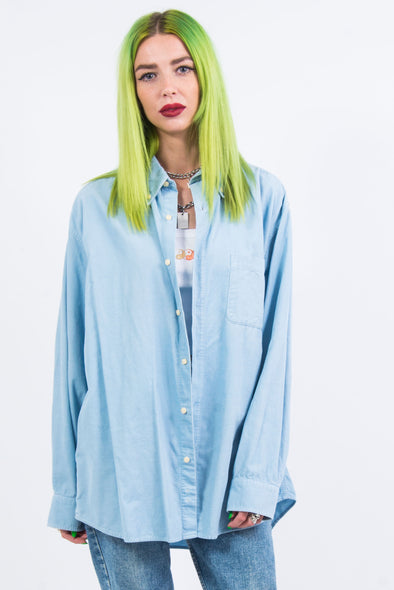 Vintage 90's Baby Blue Cord Shirt