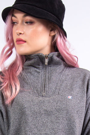 Vintage Champion Cropped 1/4 Zip Sweatshirt