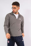 The North Face 1/4 zip lightweight fleece in grey