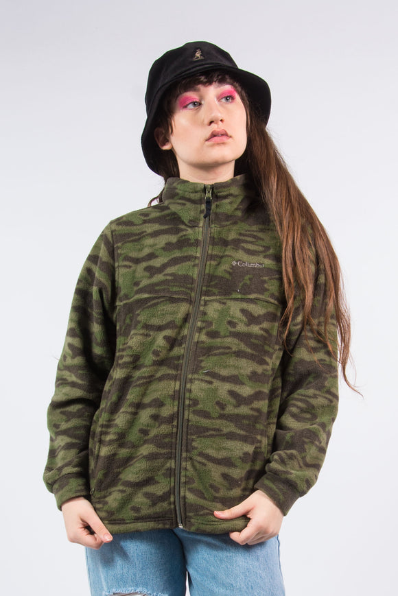 Columbia Vintage 90's Camo Fleece Jacket