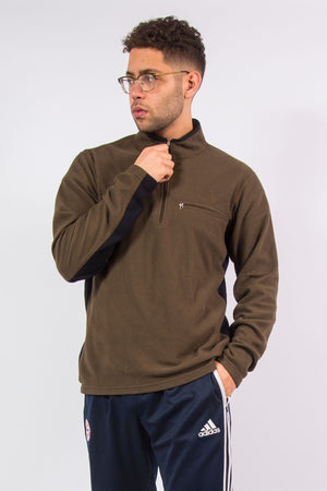 The North Face Brown 1/4 Zip Fleece