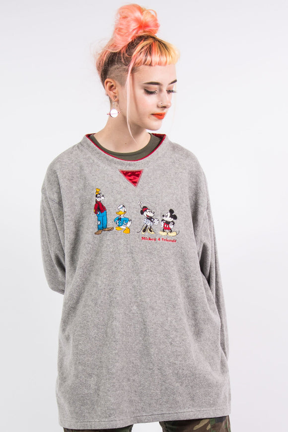 Vintage 90's Disney Grey Fleece Sweatshirt
