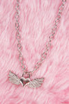 Y2K Angel Heart Necklace