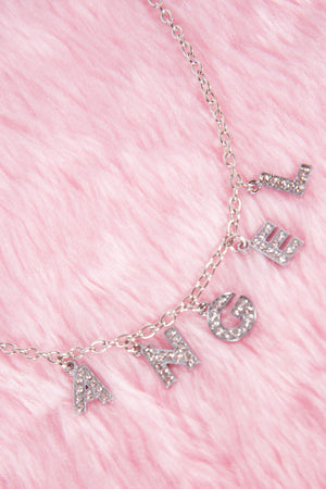 Y2K Angel Diamante Necklace