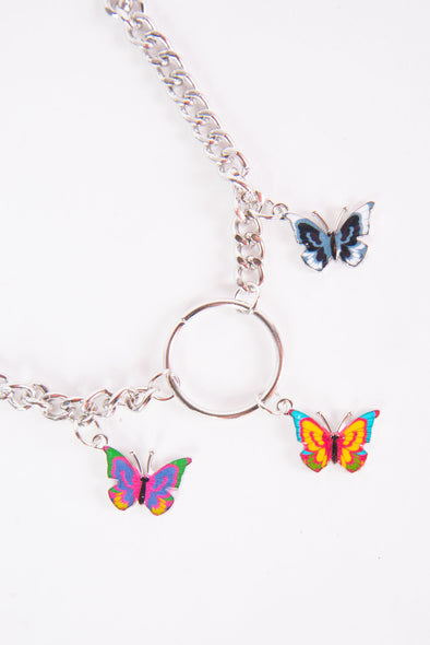 Y2K Butterfly Choker Necklace