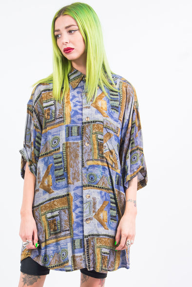 Vintage 90's Abstract Shiny Shirt