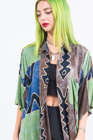 Vintage 90's Abstract Oversized Shirt