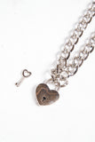 Y2K Heart Lock & Key Necklace