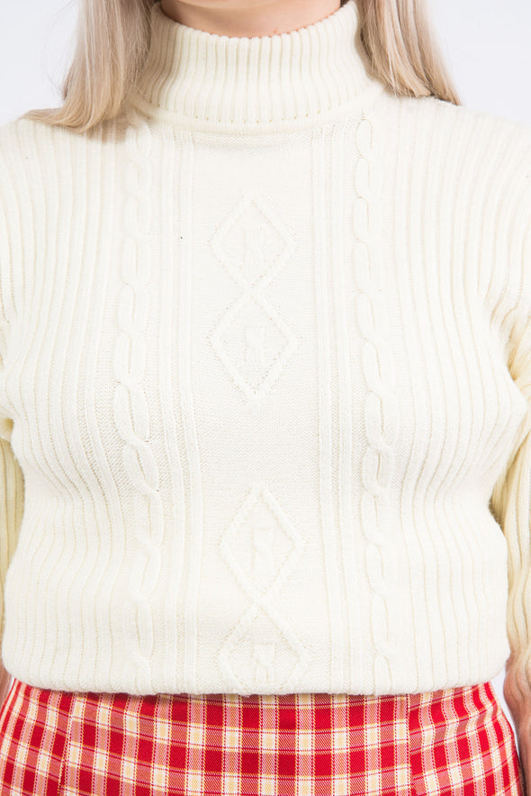 Vintage 90's Ribbed Cable Knit Jumper
