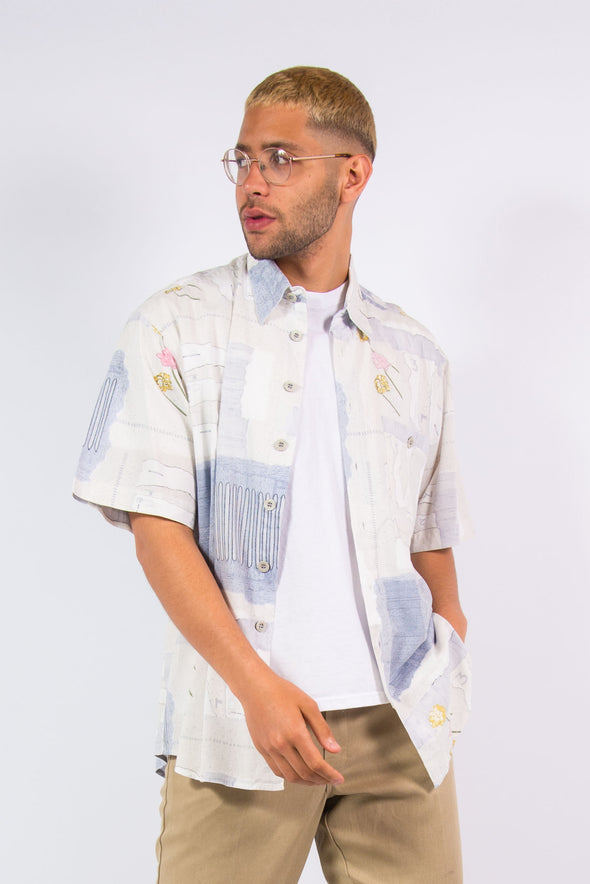 Vintage 90's Patterned Festival Shirt