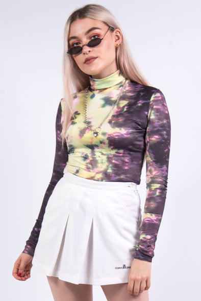 Tie Dye Roll Neck Top