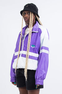 Vintage 90's Purple Shell Tracksuit Jacket