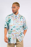 90's Vintage Crazy Pattern Shirt