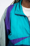 Vintage 90's Colour Block Shell Tracksuit Jacket