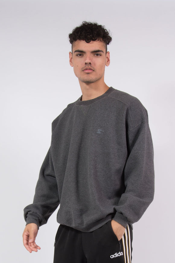 90's Starter Grey Sweatshirt Crew Neck Sweater