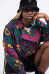 UK Fashion. The best in UK vintage fashion. Shop patterned shirts right now on our online vintage clothing store | THE VINTAGE SCENE.Vintage 90's Multicolour Silk Bomber Jacket