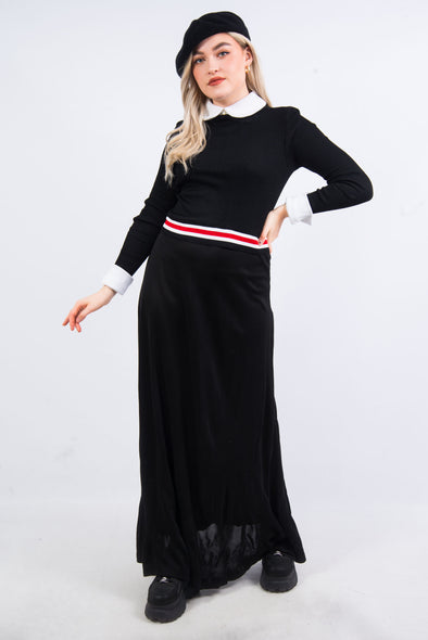 Vintage 70's Collared Maxi Dress
