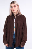 Vintage 90's Brown Cord Shirt