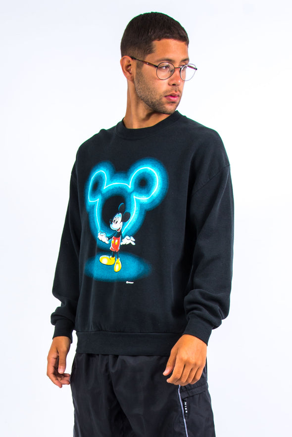 90's Mickey Mouse Black Sweatshirt