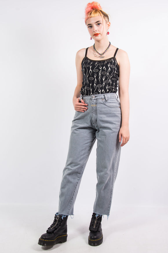 Vintage 90's Light Grey Mom Jeans