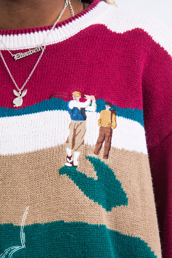 Vintage 90's Golf Knit Jumper