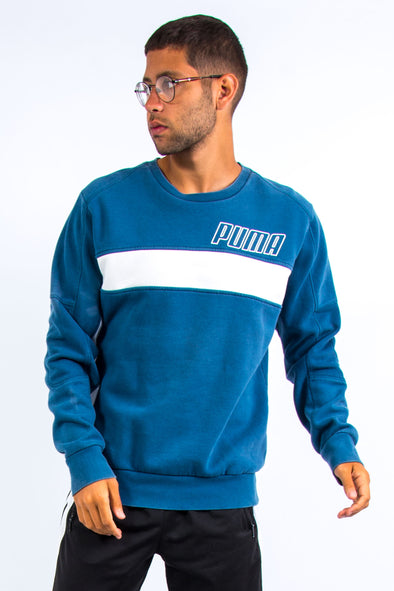 00's Blue Puma Sweatshirt