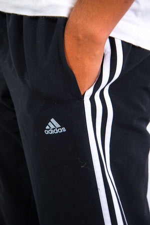 Y2K Adidas Black Tracksuit Bottoms