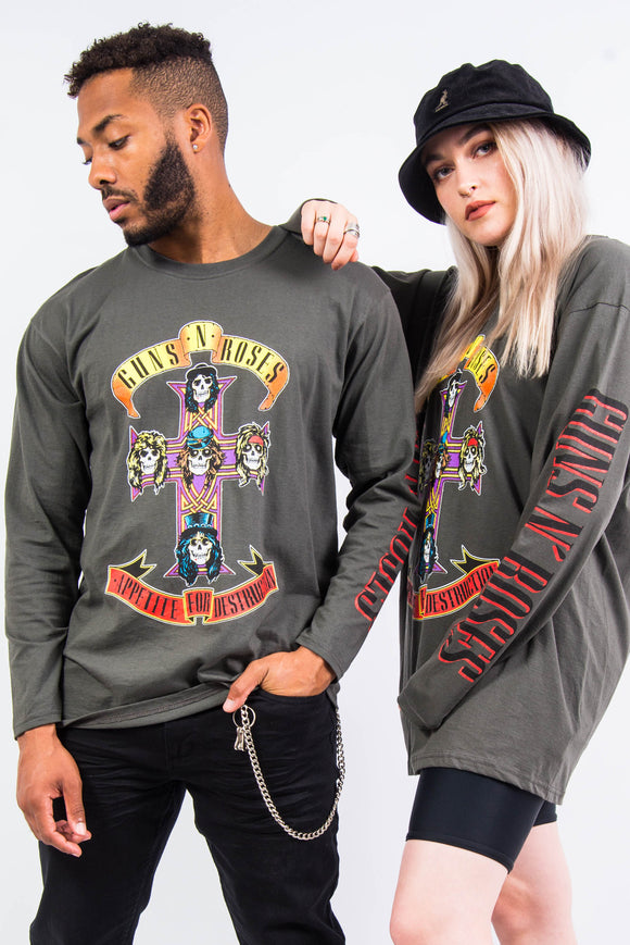 Guns N Roses Long Sleeve Tour T-Shirt