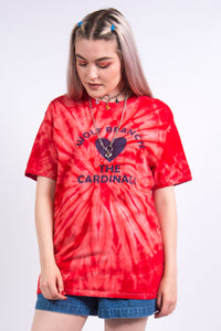 Vintage 90's Red Tie Dye T-Shirt