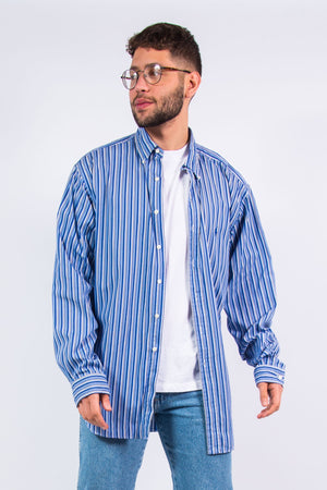 Vintage Ralph Lauren Blue Striped Shirt