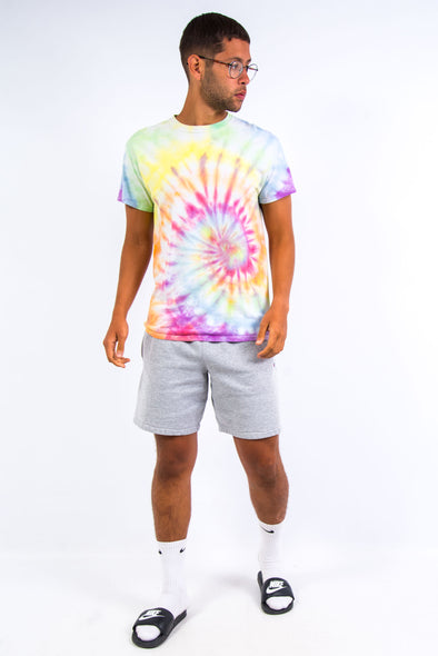 Vintage Multicoloured Rainbow Tie Dye T-Shirt