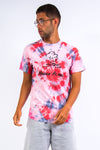 Y2K Pink Tie Dye Vacation T-Shirt