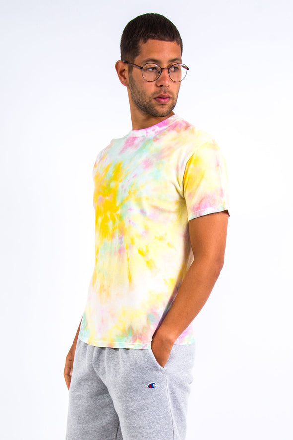 Vintage Pastel Coloured Tie Dye T-Shirt