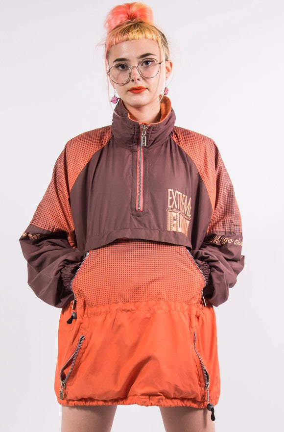 Vintage 90's Quarter Zip Ski Jacket Coat