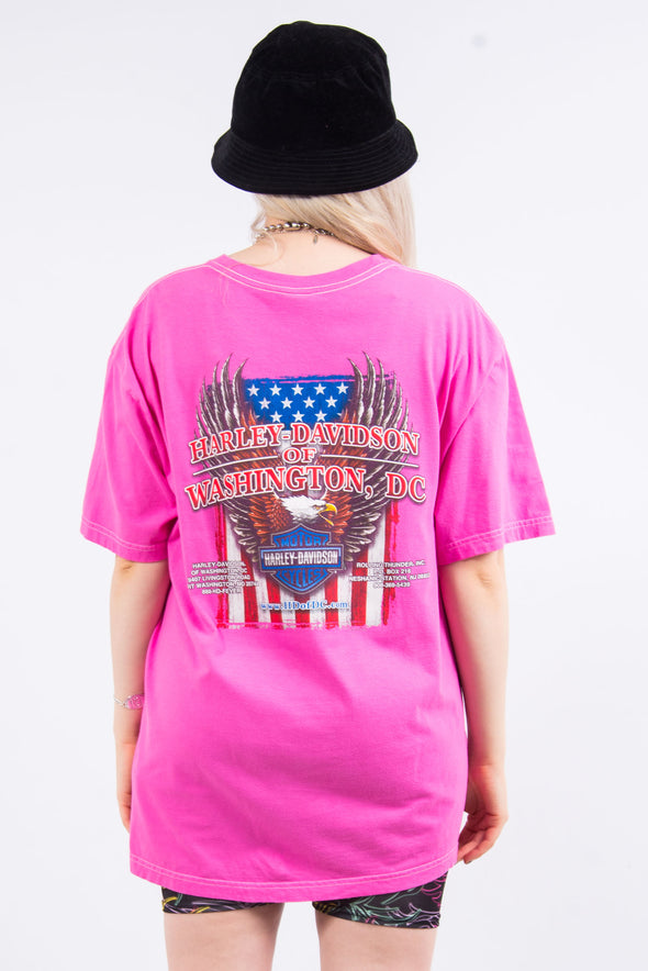 Pink Harley Davidson Washington D.C. T-Shirt