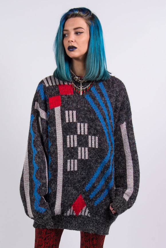 Vintage 90's Abstract Knit Grunge Jumper