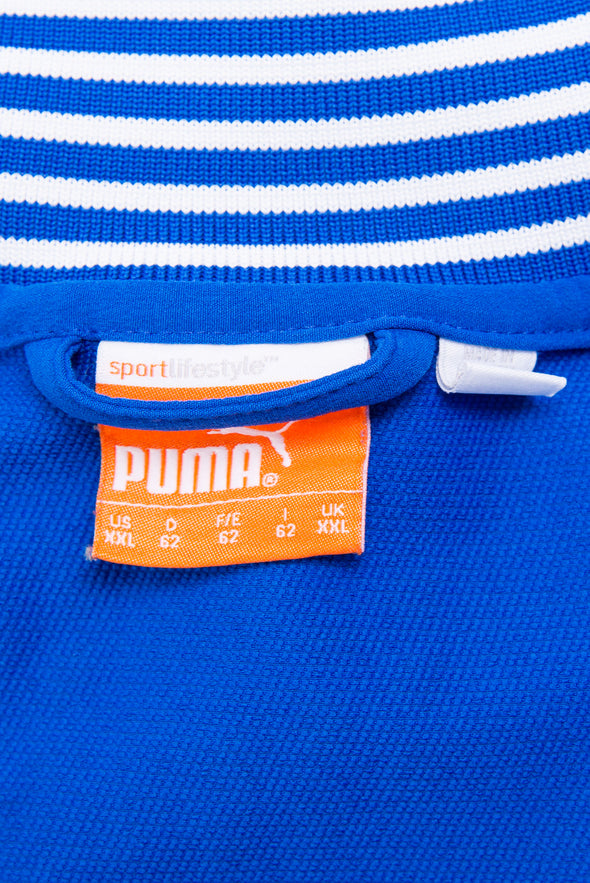 Blue Puma 1/4 Zip Training T-Shirt