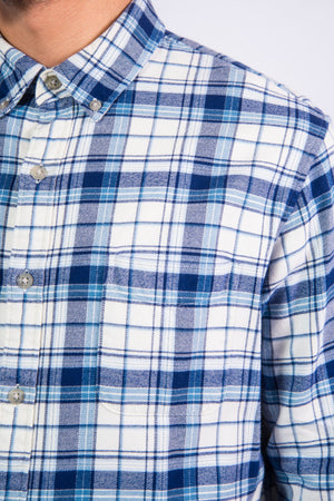 Vintage Blue Check Flannel Shirt