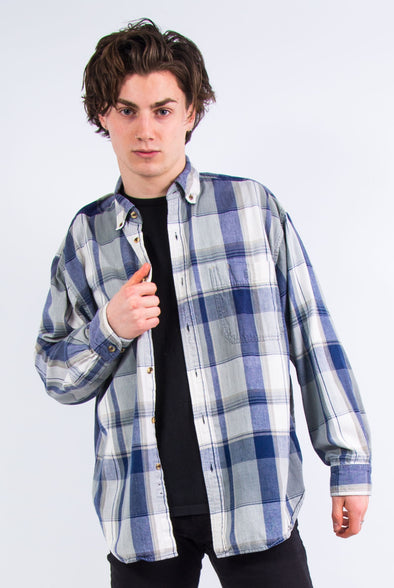 Vintage 90's Checked Pattern Flannel Shirt