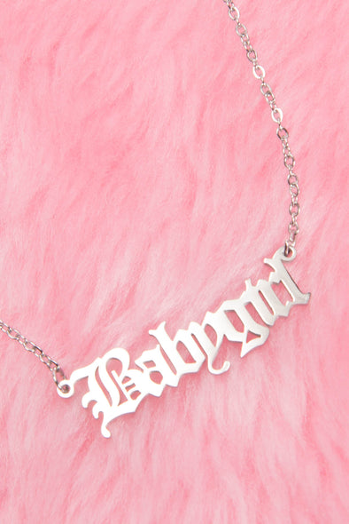 Babygirl Y2K Style Necklace - Silver