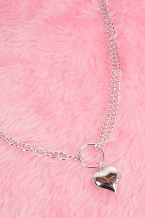 Y2K Heart Chain Necklace