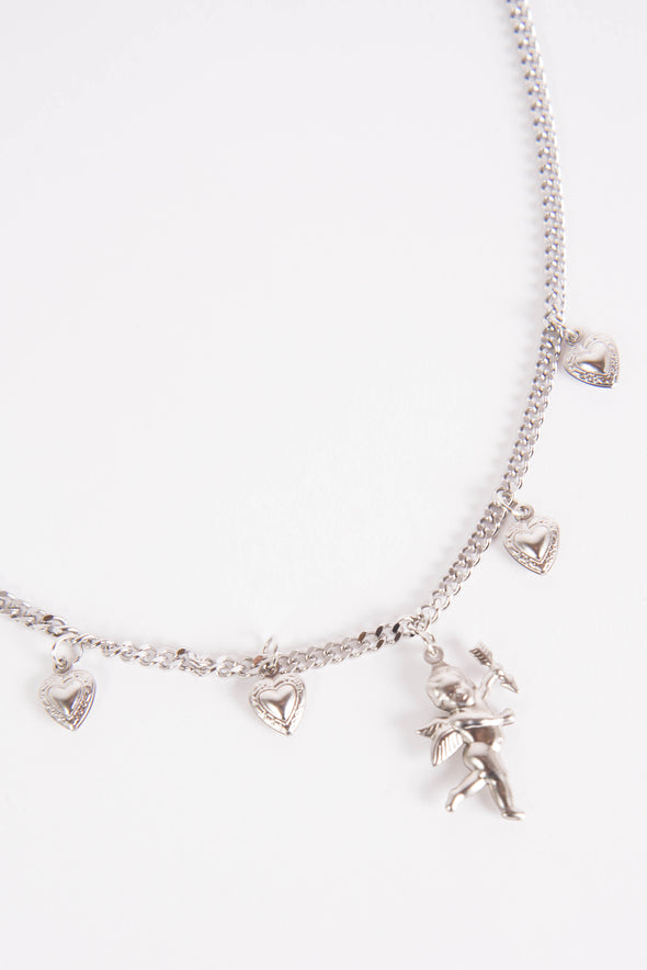 Cupid In Love Cherub Chain Necklace
