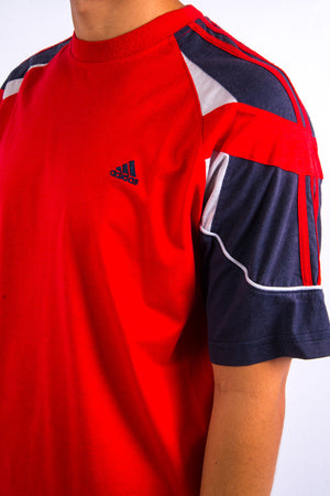 90's Adidas Red T-Shirt